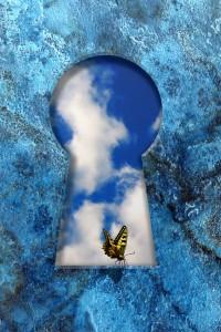 Butterfly on a keyhole dreamstime_m_15942849 web
