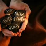 Core Beliefs rock hands